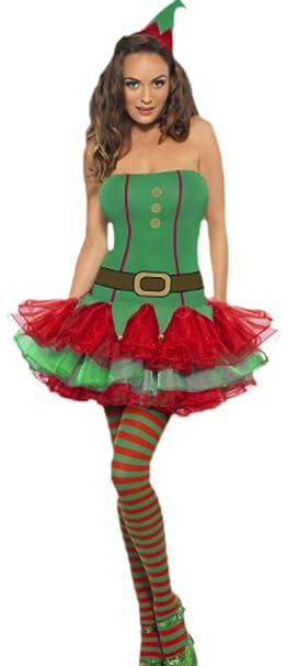 Fragolina dolcecuore loft - Costume da donna vestito corto Elfi natalizi e  cappello berretto 810c6be4480c