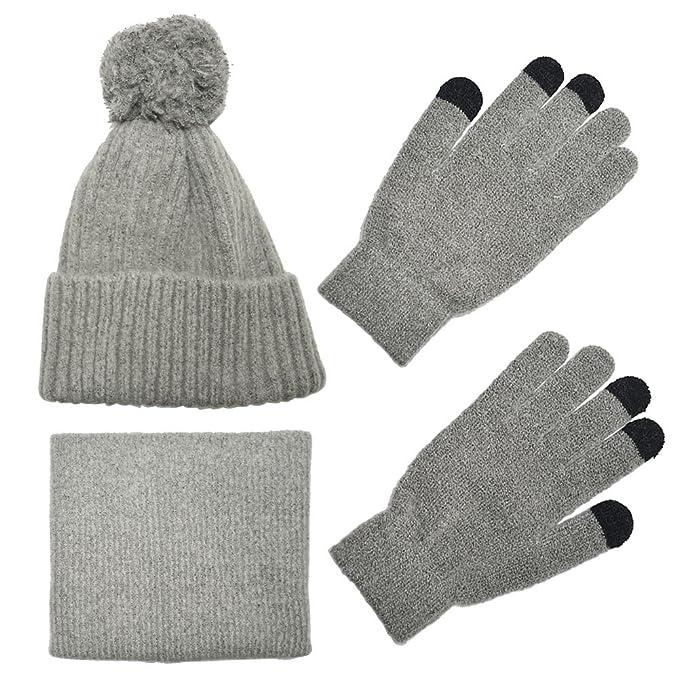 6f48d7aba01 Knit Scarf Hat Gloves Set