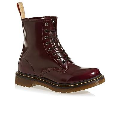 dc382df322 Amazon.com | Dr. Martens Women's Vegan 1460 8-Eye Boots, Burgundy, Faux  Leather, Rubber, 8 M UK, 10 M US | Ankle & Bootie