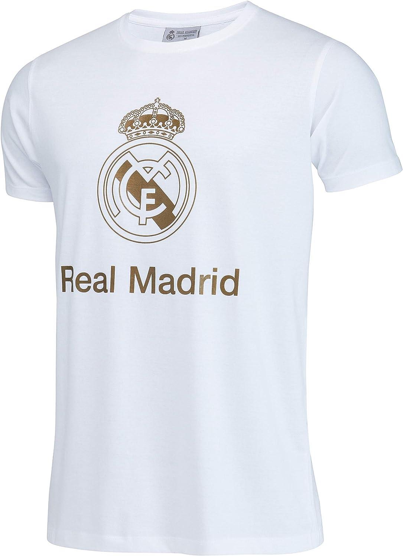 Real Madrid Camiseta de algodón Colección Oficial - Hombre: Amazon ...