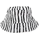 Kloware Sombrero de Cubo a Rayas contra el Sol para Mujer Niña Secado Transpirable