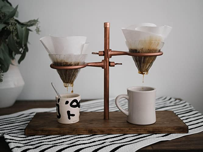52170ab2064 Image Unavailable. Image not available for. Color  Double Pour Over Coffee  Stand ...