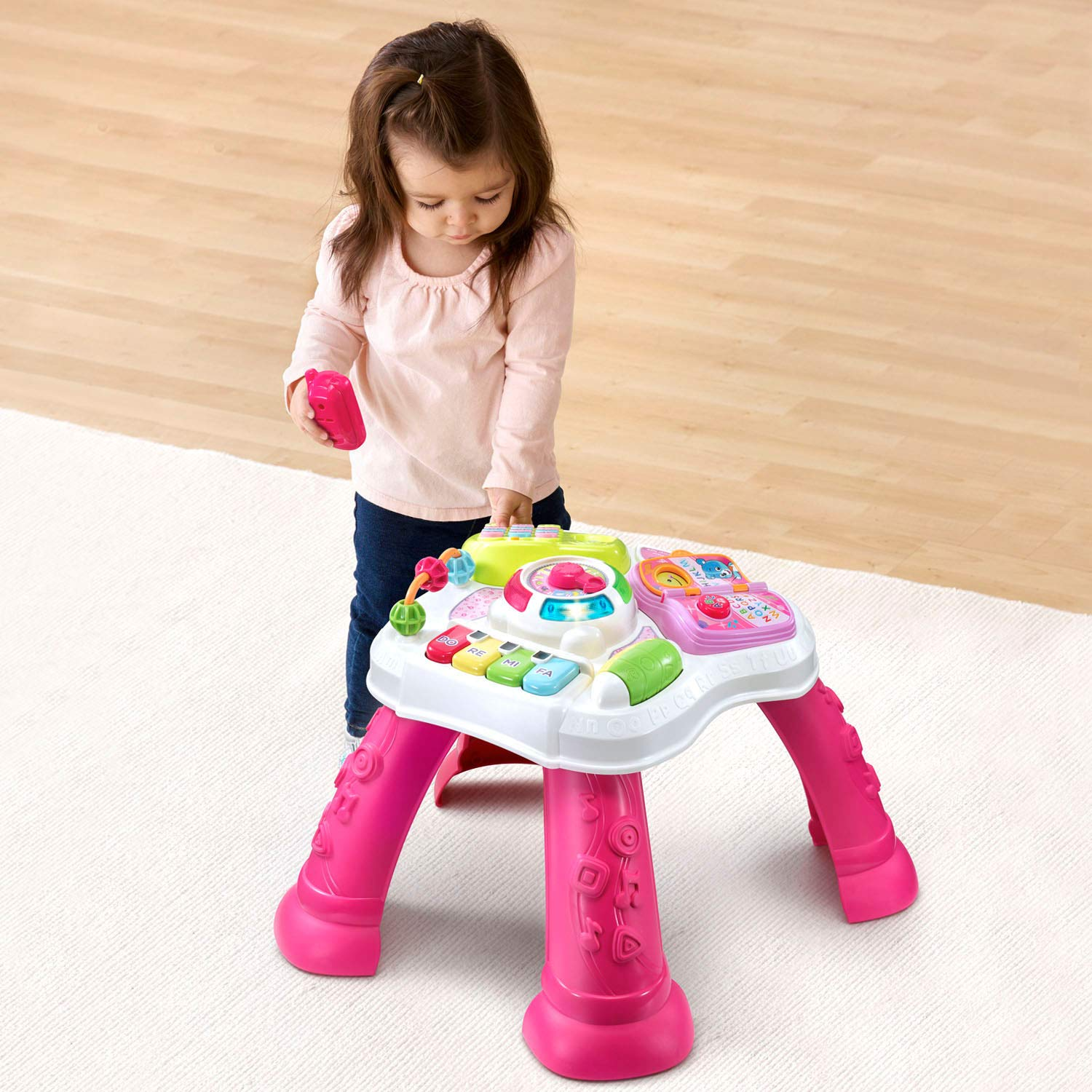 VTech Sit-To-Stand Learn & Discover Table, Pink by VTech (Image #7)