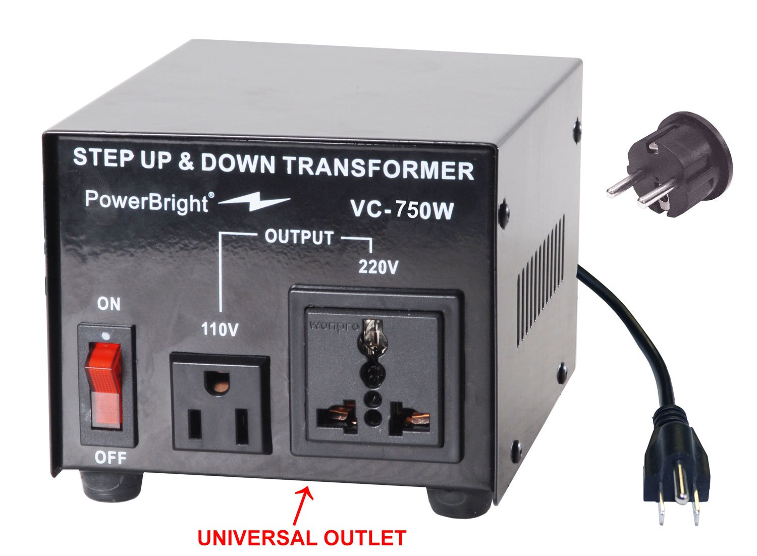Power Bright Vc1500w Voltage Transformer 1500 Watt Step 240 Volt Ct Wiring Diagram Up Down Converter 110 120 220 Garden Outdoor