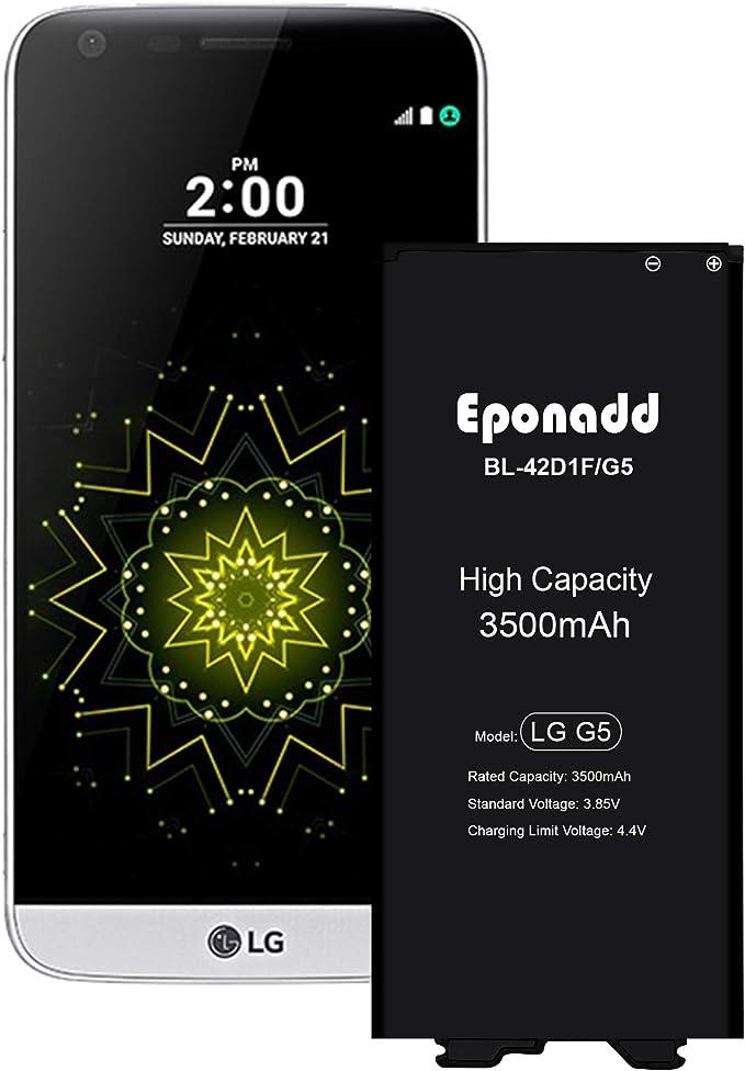 Eponadd - Batería para LG G5 (3500 mAh, Compatible con LG G5 BL ...