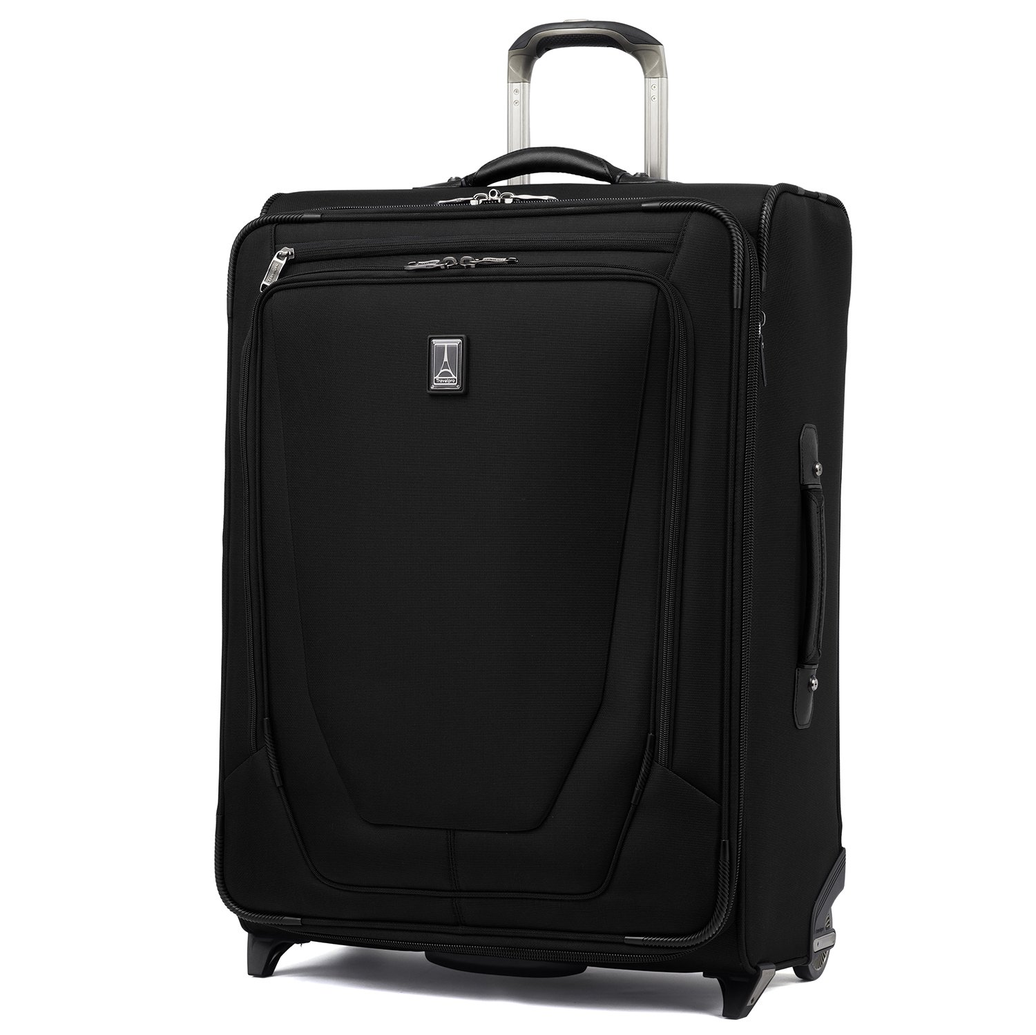 Travelpro Luggage Crew 11 26'' Expandable Rollaboard Suitcase w/Suiter, Black