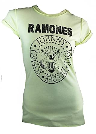 Lemon T Damen Amplified Lady Ramones Official The Shirt Gelb qCAvOw