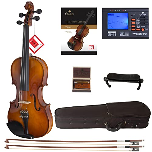 Cecilio CVN-300 Solidwood Ebony Fitted Violin