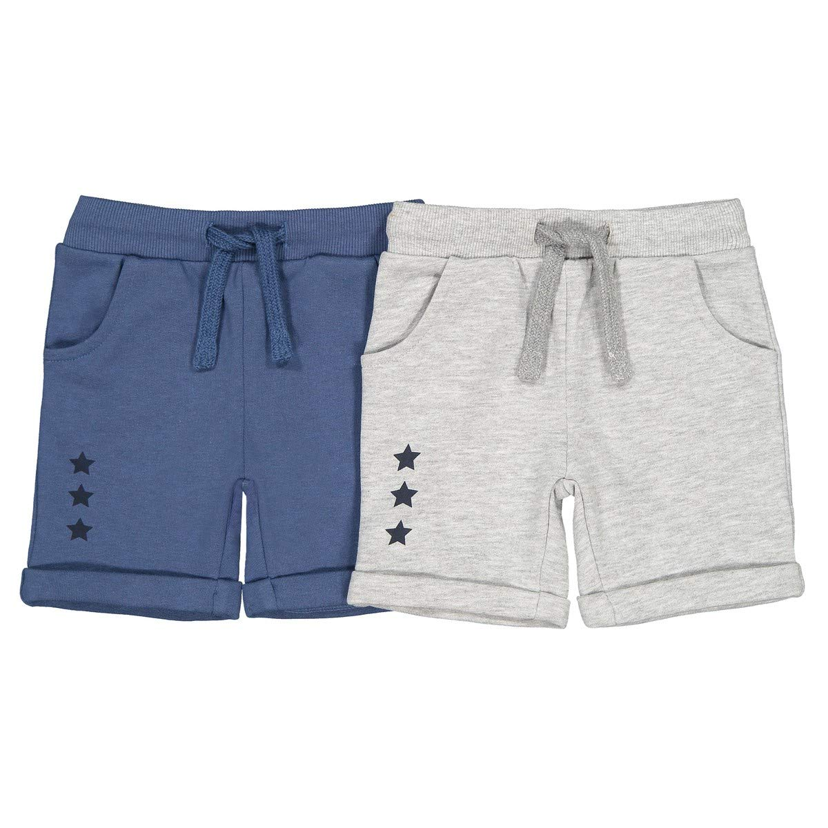 1 Month-3 Years La Redoute Collections Big Boys Pack of 2 Fleece Shorts