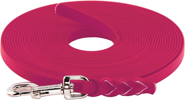 geflochten ohne Handschlaufe BioThane Schleppleine f/ür Hunde 5-15kg 9 mm breit bis zu 30 Meter L/änge in vielen Farben