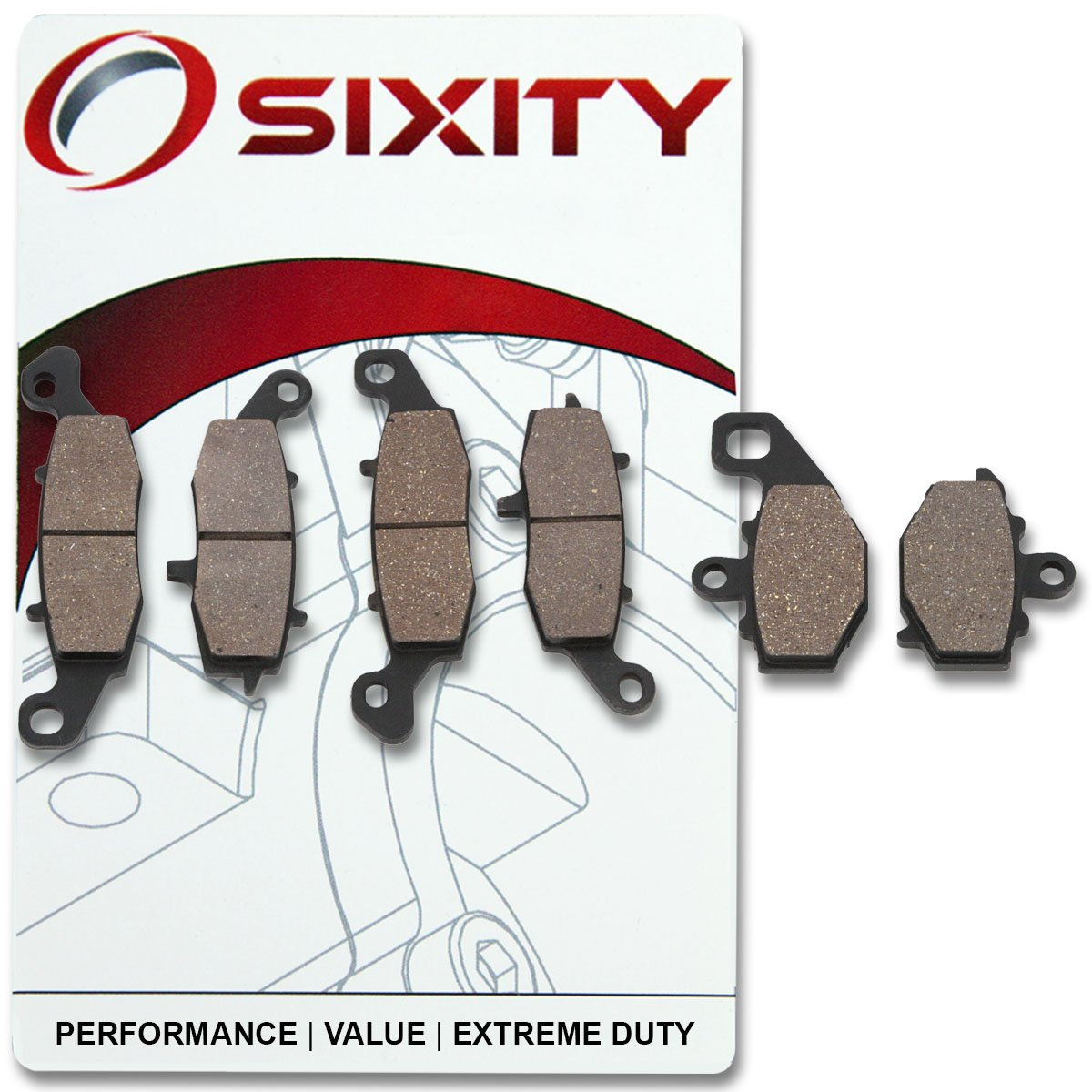 Amazon.com: Sixity Front + Rear Ceramic Brake Pads 2013-2015 ...
