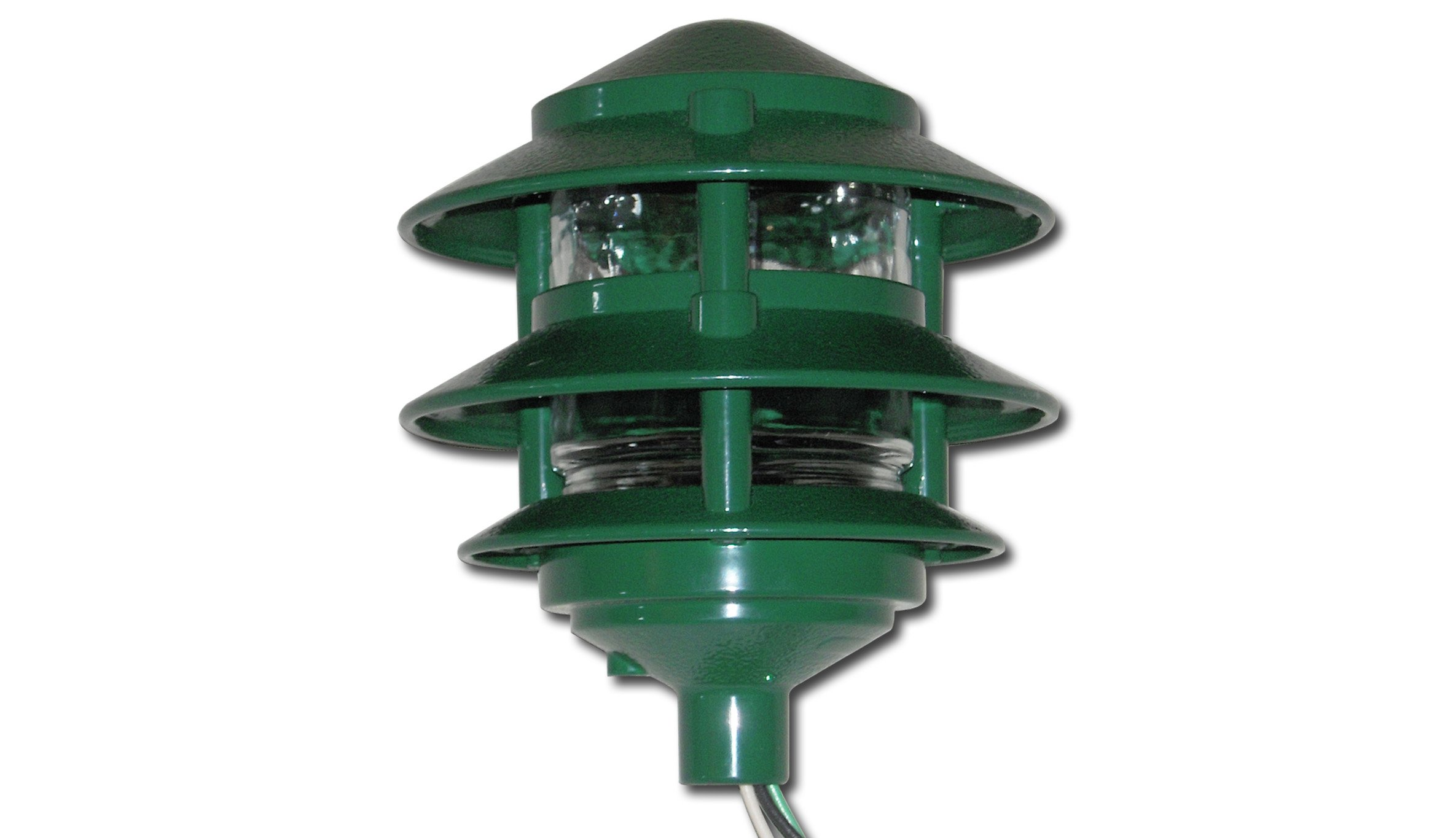 Made in USA Weatherproof Path Light - Green by Greenfield