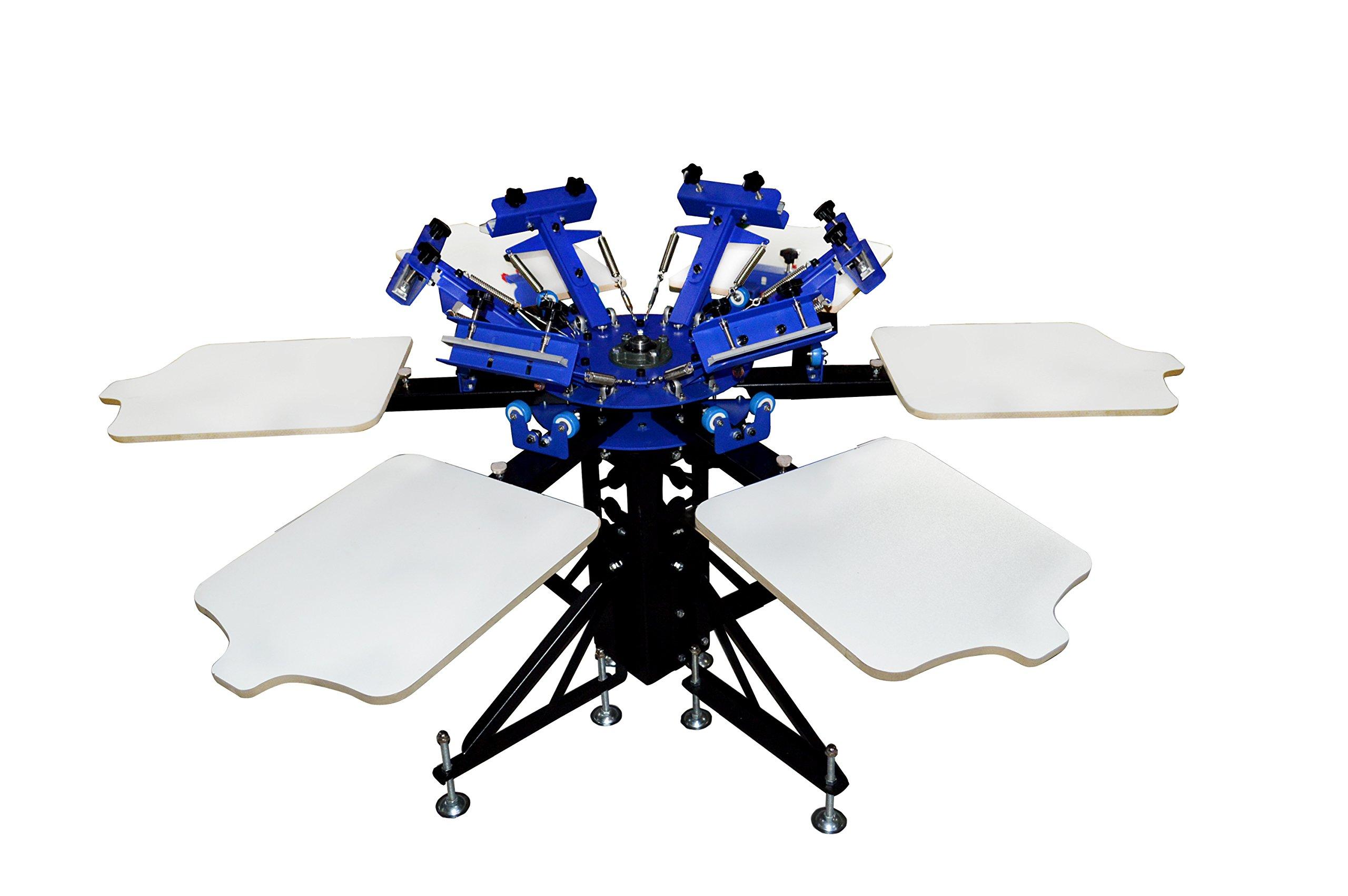6-6 Double Wheel Screen Printing Machine Screen Printing Press DIY Equipment T-shirt by Screen Printing Machine Series