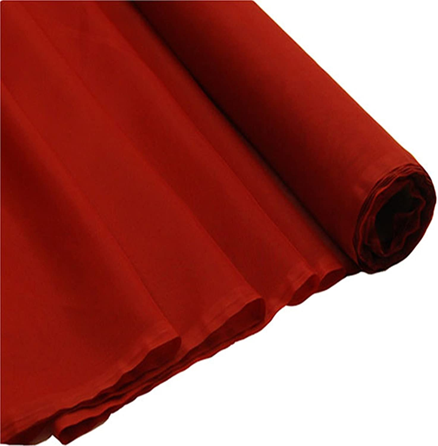 150CM Sold By the Metre 58 Wide Plain Woven Voile Net Curtain Fabric Finished In Brick Red