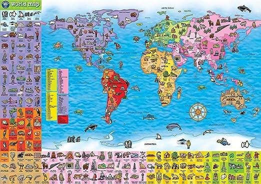 N/L Jigsaw Puzzle For Adults 1000 Piece, Juego de Mesa británico Orchard Toys Puzzle para niños Mapa geográfico Mundial: Amazon.es: Hogar