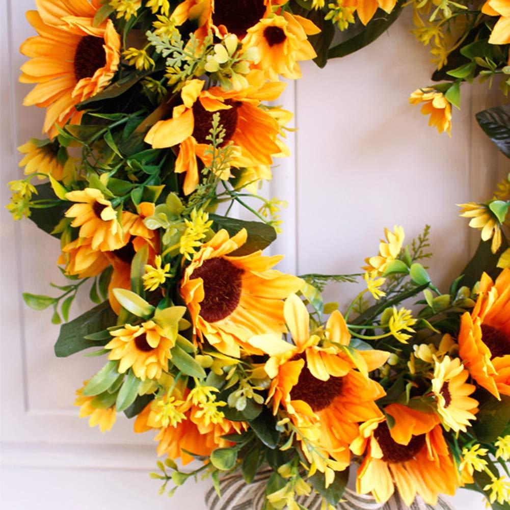 home decor silk floral arrangement floral decor tropical.htm cure secret 16 inch artificial sunflower wreath vintage hanging  sunflower wreath vintage hanging