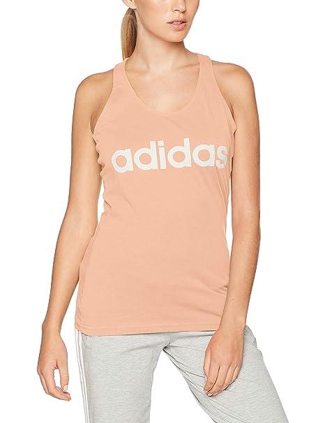 adidas Damen Tank Top rosa mit weißer Schrift (Haze Coral)