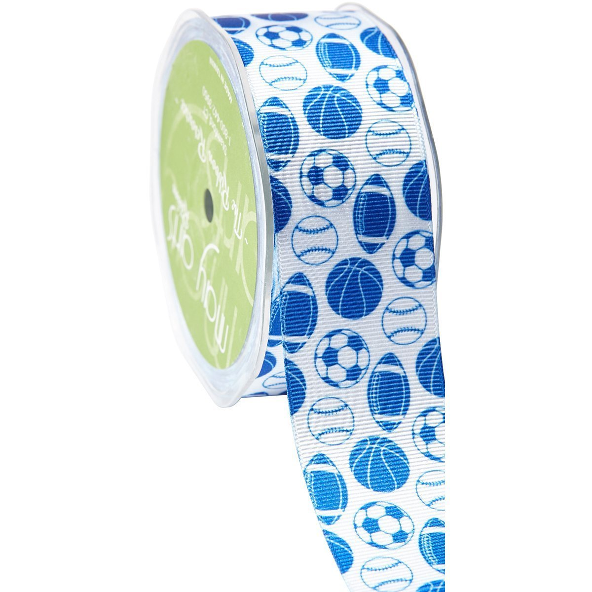 Amazon.com: May Arts All Sports Print Grosgrain Ribbon 1-1/2