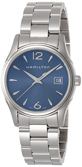 Hamilton Reloj Analogico para Mujer de Cuarzo con Correa en Plata H32351145: Amazon.es: Relojes
