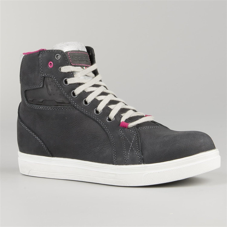 d7632f1e52502 TCX Street Ace Lady Waterproof Women's Street Motorcycle Shoes - Dark Grey  / 38