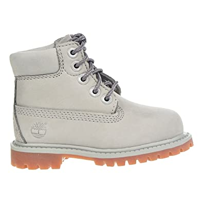 85b4fd01261af Timberland 6 Inch Premium Waterproof Toddler Boots Grey tb0a1ksb (5 M US)