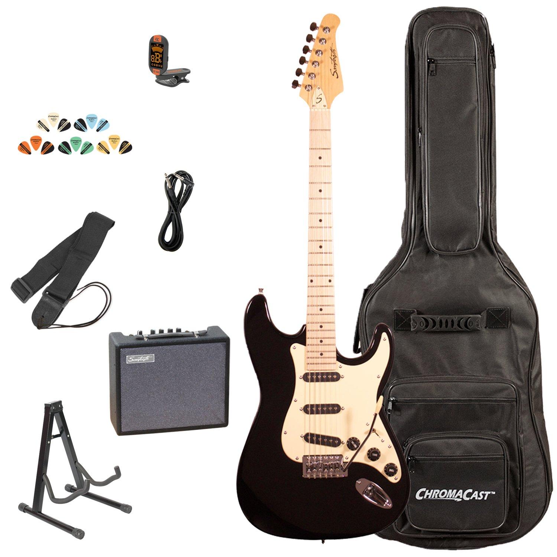 Sawtooth ST-ES-BKVC-KIT-3 Electric Guitar Pack with Vanilla Cream Pickguard