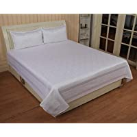 Dream Décor Silk Double Bedsheet with Two Pillow Covers - Multicolor