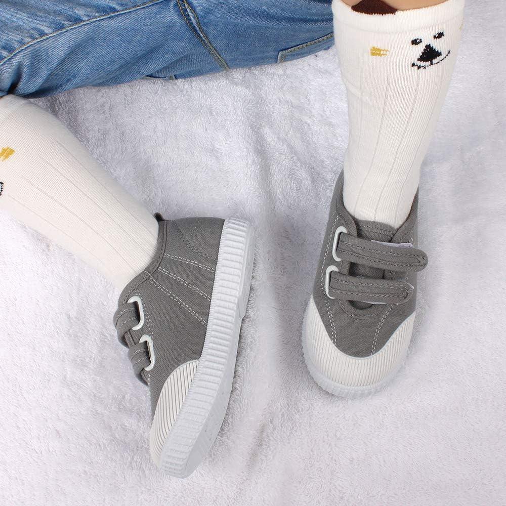 Toddler Boys Girls Canvas Sneaker Slip-On Anti Slip Running School Tennis Shoes for Kids