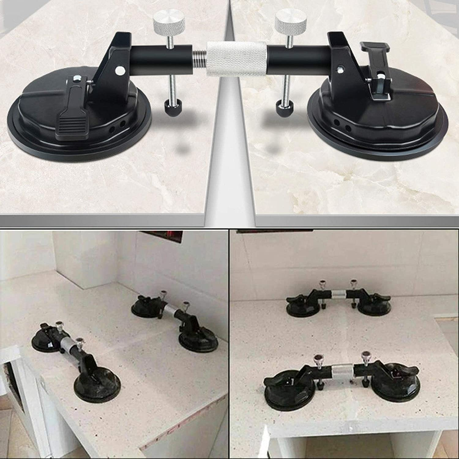 lzndeal Adjustable Suction Cup Stone Seam Setter for Pulling and Aligning Tiles Flat Surfaces