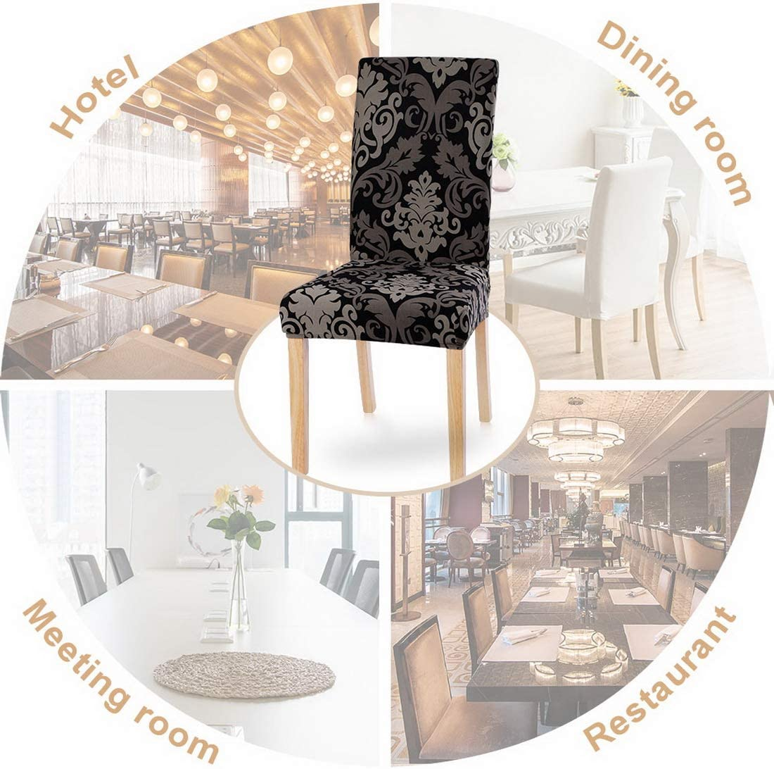 Ceremony Flower 14, 2 per Set Spandex Fabric Fit Stretch Removable Washable Short Parsons Kitchen Chair Covers Protector for Dining Room SearchI Dining Room Chair Covers Set of 2 Hotel