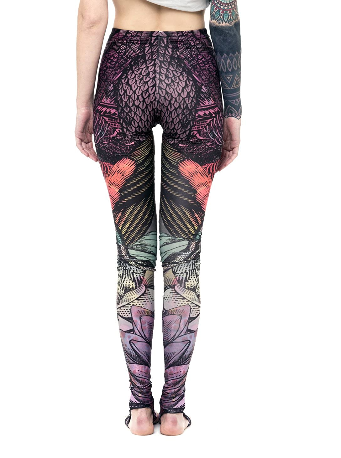 729f9ceab7b90b Tribal Print Yoga Leggings - High Waist with Stirrups - Urban Clothing for  Women at Amazon Women's Clothing store:
