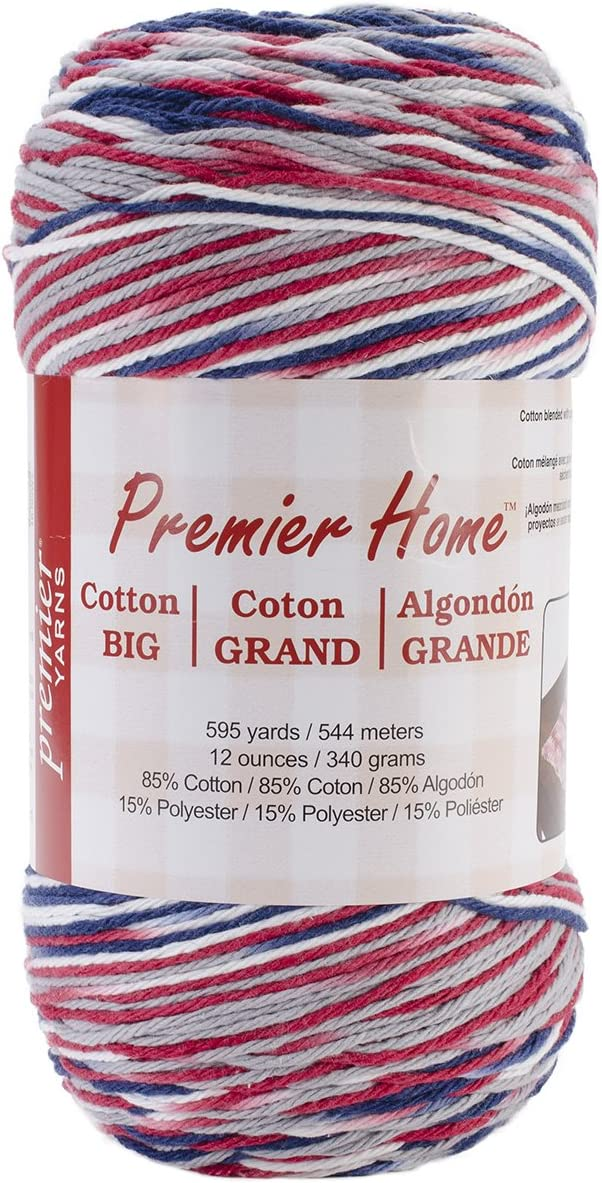 Premier Yarns Home Cotton Grande Yarn, Multi-America