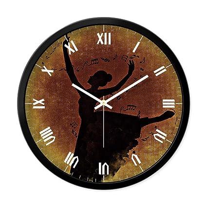 Reloj de Pared Creativo de la Personalidad Personalidad Sala de Estar silenciosa Dormitorio Sala de Baile