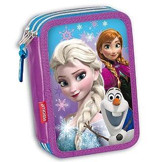 Astuccio Triplo Disney Frozen Snow Dots Blu/Viola