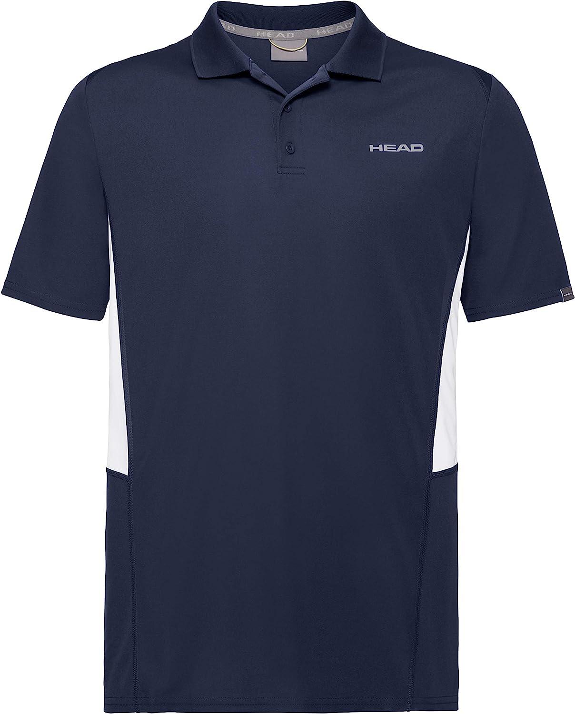 Dark Blue Headgear HEAD Kids Club Tech Boys Polo Shirt Large
