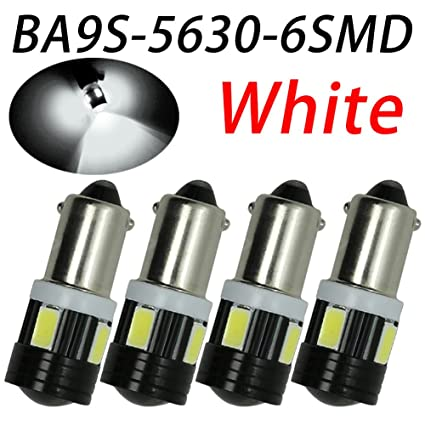 TABEN 2pcs T4 W BA9S LED lente del proyector coche de aluminio ...