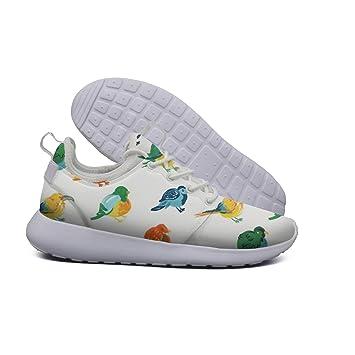 0903d8ba5a08 Cute Fat Birds Pattern Women s Lightweight Mesh Running Sneakers Exclusive Running  Shoes