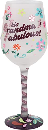 Top Shelf TS-5297A This Grandma is Fabulous Wine Glass Hand Painted Gift for Women