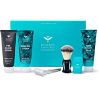 Bombay Shaving Company Complete Shaving Kit (Razor, Blades, Shaving Brush, Scrub, Cream, Balm) with Free Towel and Protection Cover