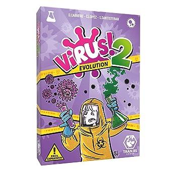 Outletdelocio. Expansion para el Juego de Cartas Virus. Virus 2 Evolution. Edicion Española. +8 años