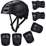 Kid's Protective Gear Set,Roller Skating Skateboard BMX Scooter Cycling Protective Gear Pads (Knee Pads+Elbow Pads+Wrist…