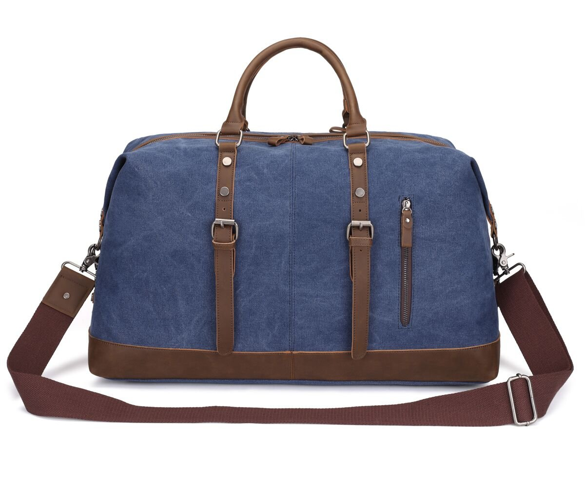 Weekend Bag Weekender Overnight Bag Canvas Vintage Travel Duffle for Men Women by UPANDFAST (Image #1)