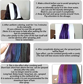 SUPERBEE - Spray de tinte para el cabello duradero, no daña ...