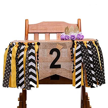 Buy Coxeer High Chair Banner Birthday Banner Decorations Set Baby