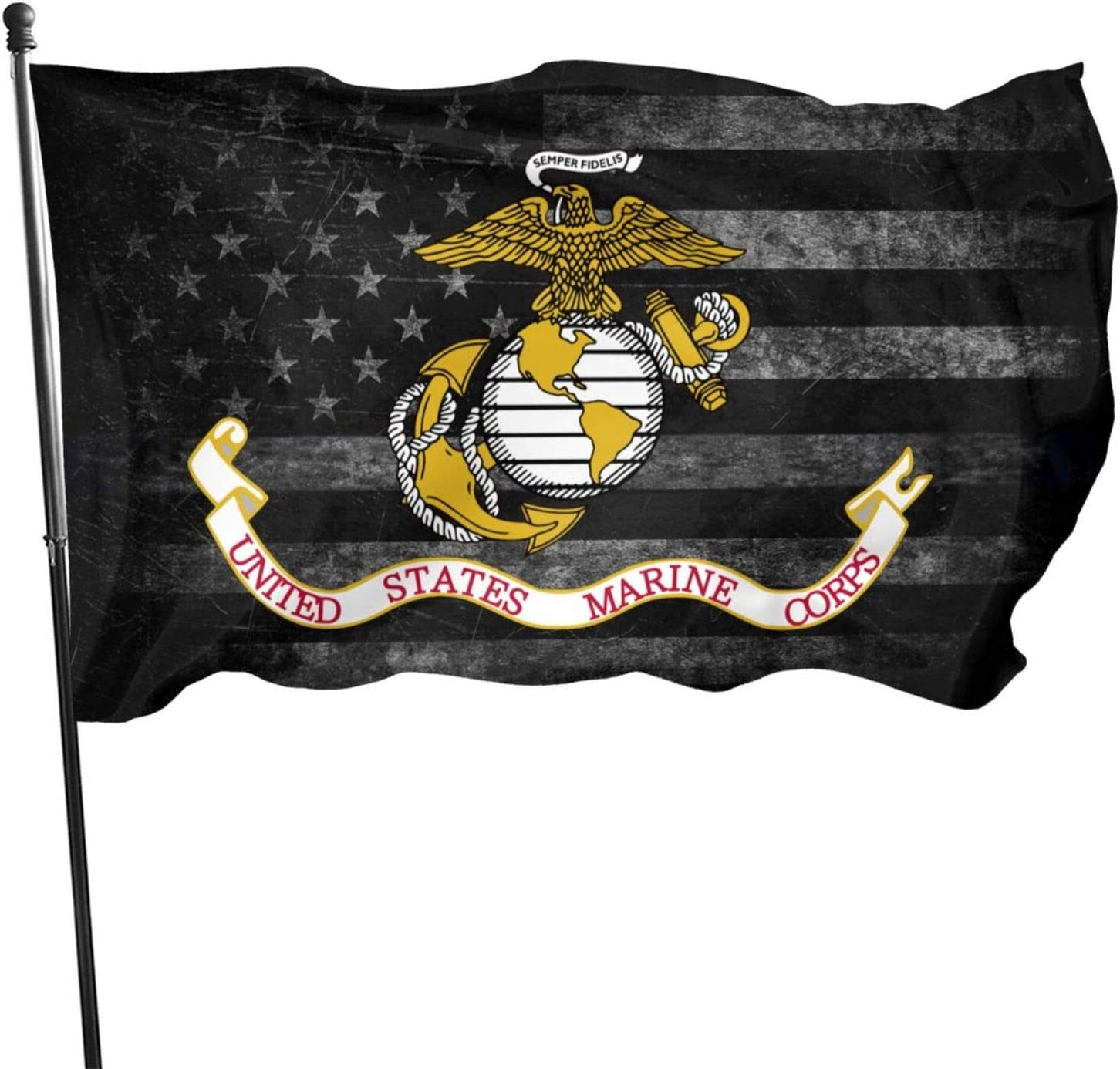 KOUSHANAIER US Marine Corps Flag 3 x 5 Ft - USMC Veteran Flags with Grommets - Banner Breeze Flag 3X5 Foot Outdoor Decor