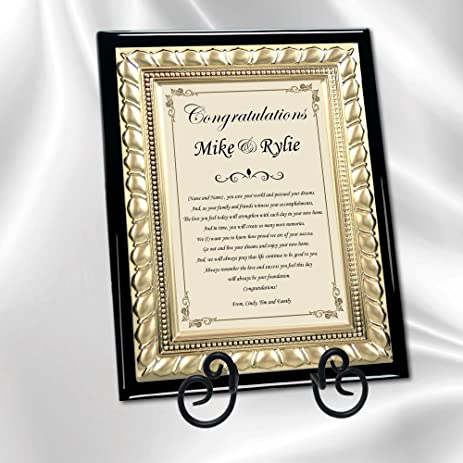 New Homeowners Housewarming Personalized Gift Plaque Congratulation Poetry  Of Owning A New Home Or House Poem
