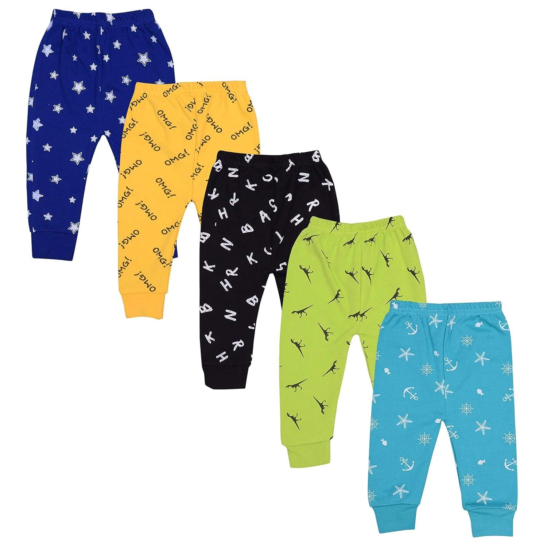 Kuchipoo Unisex-Child Cotton Printed Pajama Bottom (Pack of 5)