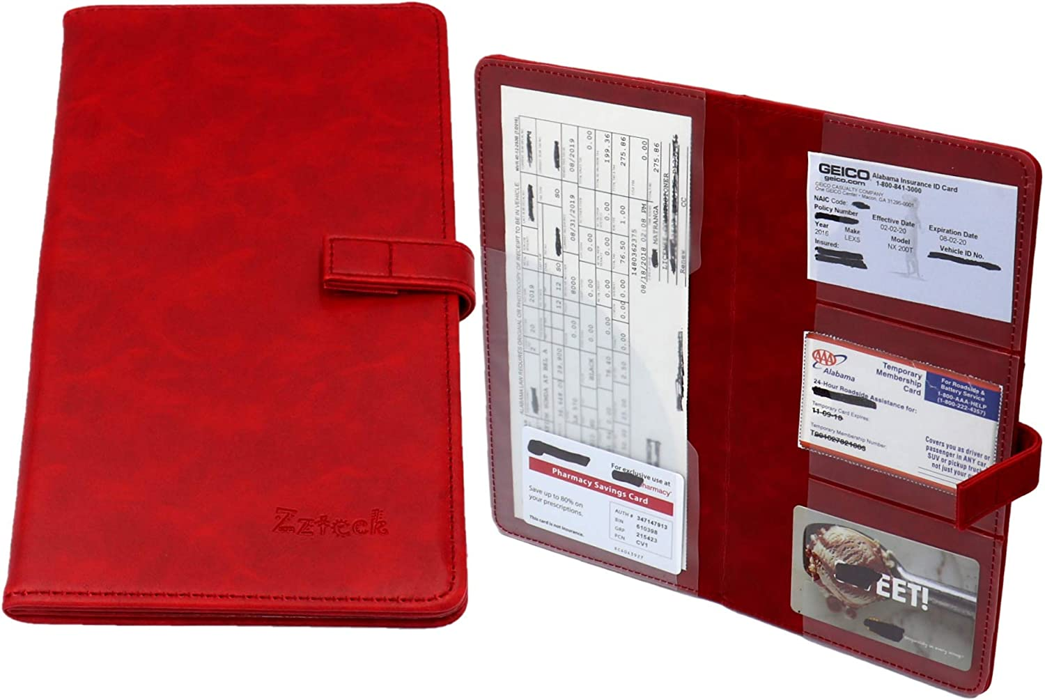 Zzteck Car Card Documents Holder