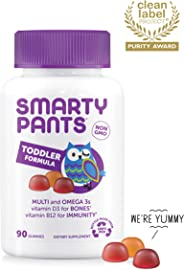 SmartyPants Toddler Formula Daily Gummy Vitamins: Gluten Free, Multivitamin & Omega 3 Fish Oil (DHA/EPA), Methyl B12, Vitami