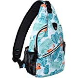 Mosiso Sling Backpack, Polyester Water Repellent Durable Chest Shoulder Unbalance Gym Fanny Lightweight Crossbody Sack…
